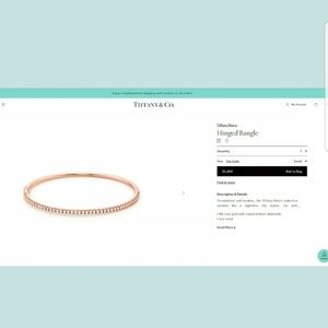 Tiffany & Co 18K Rose Gold Diamond Bangle Bracelet
